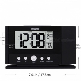 Baldr Digital Projection Clock, Ceiling Wall Alarm Snooze Timer Watch, Constant Time Projector LCD Thermometer Clock (AU Plug)