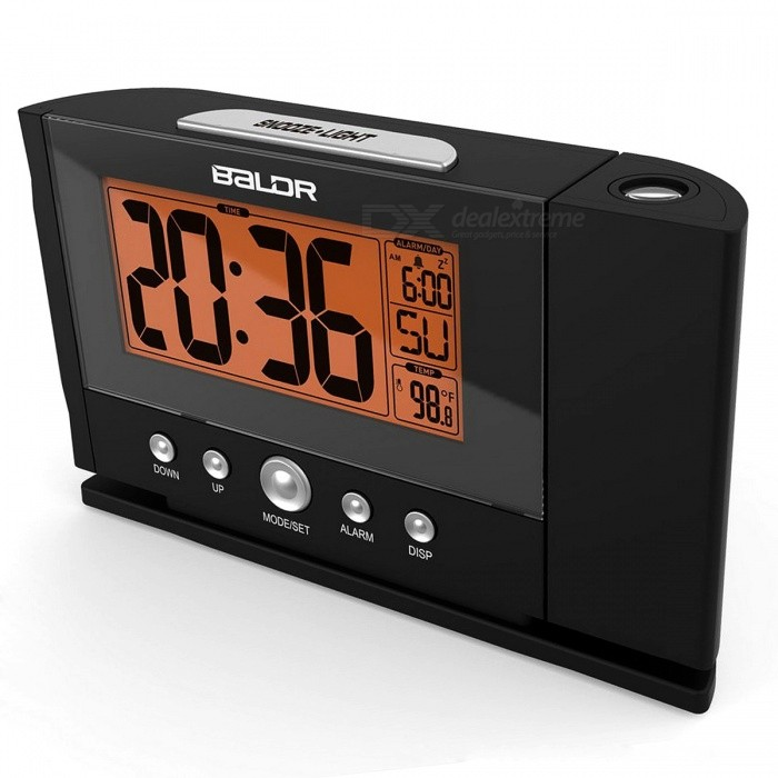 Baldr Digital Projection Clock Ceiling Wall Alarm Snooze Timer Watch Constant Time Projector Lcd Thermometer Au Plug