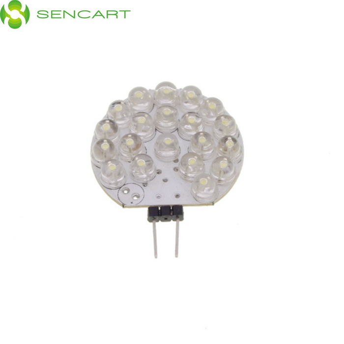 G4 1W 95lm 6500K Cool White Light Disc Form 21-LED PCB Module (DC 12V)
