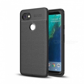 Dayspirit Lichee Pattern Protective TPU Back Cover Case for Google Pixel 2 XL - Black