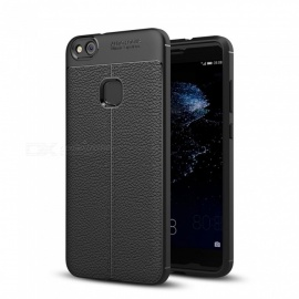 Dayspirit Lichee Pattern Protective TPU Back Cover Case for Huawei P10 Lite - Black