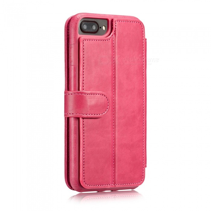 Measy Fashionable PU Leather Wallet Case for IPHONE 7/8 Plus - PinkLeather Cases<br>Modeliphone 7/8 PlusColorPinkQuantity1 pieceMaterialPUCompatible ModelsiPhone 7 PLUS,IPHONE 8 PLUSStyleFull Body Cases,Flip OpenDesignSolid Color,With Stand,Card SlotPacking List1 x Case<br>