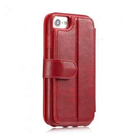 Measy Fashionable PU Leather Wallet Case for IPHONE 7/8 - Red
