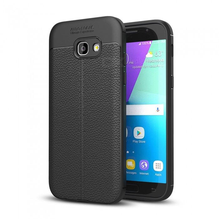 Dayspirit Lichee Pattern Protective TPU Back Cover Case for Samsung Galaxy A5 (2017), A520 - BlackTPU Cases<br>ColorBlackModelN/AMaterialTPUQuantity1 pieceShade Of ColorBlackCompatible ModelsSamsung Galaxy A5 (2017) , A520Packing List1 x Case<br>