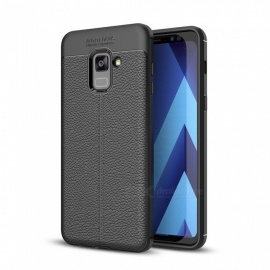 Dayspirit Lichdee Pattern Protective TPU Back Cover Case for Samsung Galaxy A8+ (2018), A8 Plus 2018 , A730 - Black