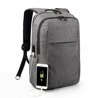 Tigernu Water Resistant Anti-Theft Travel Daypack / Business Rucksack, Slim Laptop Computer Backpack with USB Charging Port