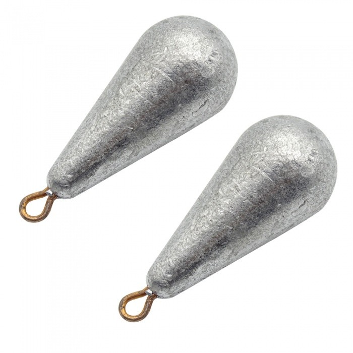 Waterdrop Style Solid Fishing Sinker Special Regulus Lead - 2PCS (150g)Size150gQuantity2 pieceMaterialLeadPacking List2 x Regulus Leads<br>