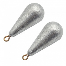 Waterdrop Style Solid Fishing Sinker Special Regulus Lead - 2PCS (10g)