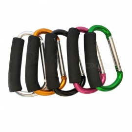 Outdoor Multi-Purpose 12 x 138mm Extra Large EVE Sponge D-Type Aluminum Carabiner (5 PCS / Random Color)