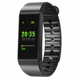 W6S Color Screen IP67 Waterproof Smart Bluetooth Bracelet Fitness Tracker for IOS Android - Black
