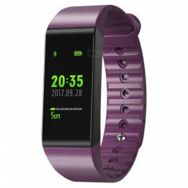 W6S Color Screen IP67 Waterproof Smart Bluetooth Bracelet Fitness Tracker for IOS Android - Purple