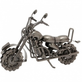 ZHAOYAO Vintage Iron Art Harley-Davidson Motor Model Desktop Decoration - Silver