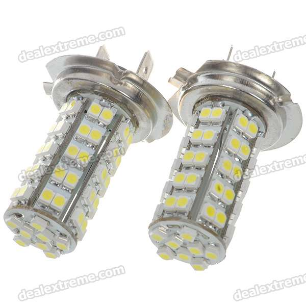 H7 3.5W 68-SMD LED 6500K 310-Lumen White Fog Lights for Car (Pair) possbay car fog lights for bmw f10 f11 f18 5 series 2009 2013 yellow front lower daytime driving fog lamps car styling