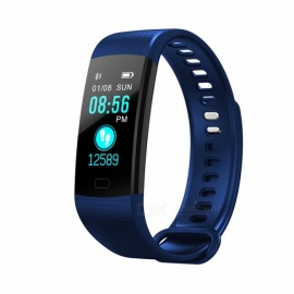 Y5 Color Screen Smart Bluetooth Bracelet with Heart Rate, Blood Pressure / Oxygen, Real-Time Monitoring - Blue