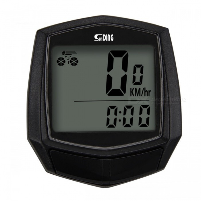 Sunding SD-581 Multifunction Wireless Bicycle Stopwatch Odometer SpeedometerBike Computer<br>ColorBlackModelN/AQuantity1 setMaterialPlasticScreen Size3 cmBattery TypeOthers,AG10Battery Number1Battery included or notYesWaterproofYesBacklight/Packing List1 x Bicycle Computer (Battery Included)1 x Sensor1 x Mounting Shoe1 x Set of Cable Ties1 x Magnet1 x User Manual (English)<br>