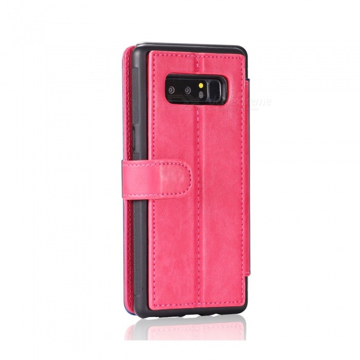 Fashionable PU Leather Wallet Case for Samsung Galaxy Note 8 - PinkLeather Cases<br>ColorPinkModelN/AMaterialPUQuantity1 setShade Of ColorPinkCompatible ModelsSamsung Galaxy Note 8FeaturesAnti-slip,Dust-proof,Shock-proof,Holder functionPacking List1 x Case<br>