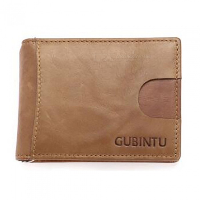 GUBINTU Folding Leather Wallet with Coin Pocket for Men - CoffeeWallets and Purses<br>ColorCoffeeModel753#Quantity1 pieceShade Of ColorBrownMaterialLeatherGenderMenSuitable forAdultsOpeningHaspStyleFashionWallet Dimensions10.5*8*1Packing List1 x Wallet<br>