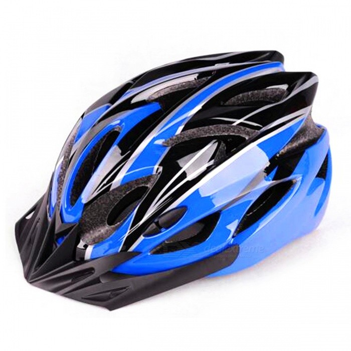 Outdoors Mountain Bike Integrated Molding Riding Cycling Helmet - Blue + Black + Multicolor