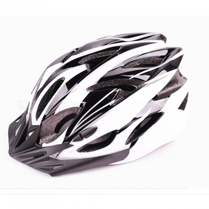 Outdoors Mountain Bike Integrated Molding Riding Cycling Helmet - White + Black + Multicolor