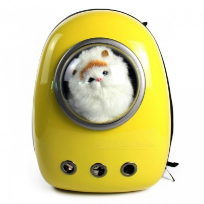 Pet Carrying Out Astronaut Space Style PC Breathable Bag Backpack for Dog, Cat - Yellow