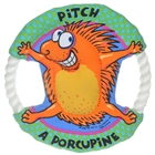 Cloth Round Plate Pets Toy - Porcupine (Green + Orange)