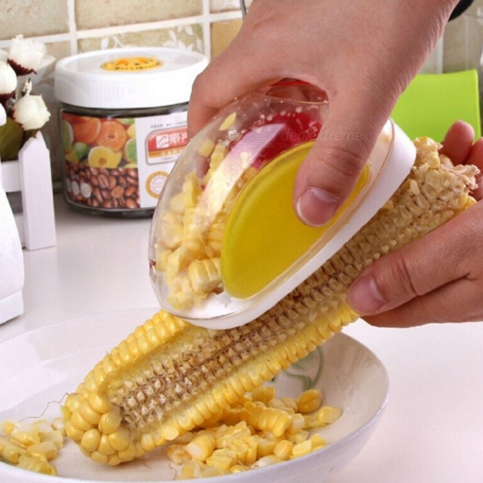 Hot New Useful Corn Stripper Cutter Shaver Peeler Cooking ToolเธƒเธŒ Kitchen Cob Remover