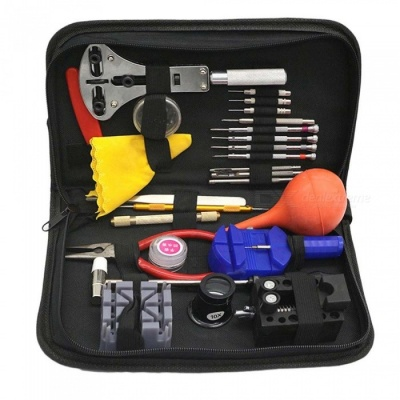 ZHAOYAO 27-Piece Watch Repair Tools Kit with Black Case