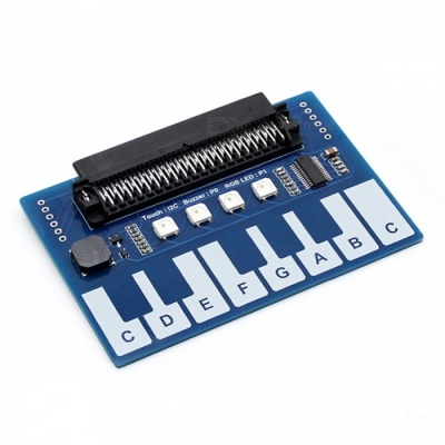 Waveshare Mini Piano Module for Micro:bit, Touch Keys to Play Music (FOR SKU:471903)