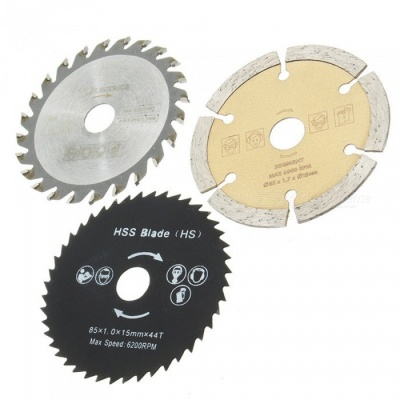 HakkaDeal 3Pcs Circular Saw Blades HSS Cutter, Mini Drill Auger Tools with OD 54.8mm