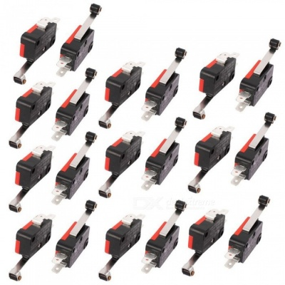 RXDZ 10Pcs V-156-1C25 Roller Lever Arm SPDT Micro Limit Switch