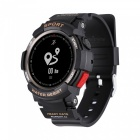 F6 IP68 Waterproof Smart Watch Smartwatch with GPS, Pedometer, Heart Rate Monitor, Fitness Tracker - Black