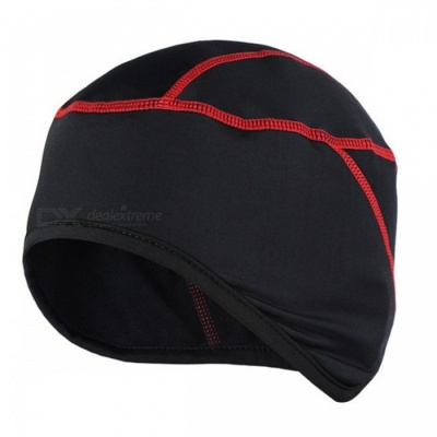 ARSUXEO Winter Warm Up Fleece Sports Running Cycling Cap, MTB Bike Bicycle Hat - Red
