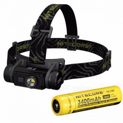 Nitecore HC60 Cree XM - L2 U2 1000LM LED Headlamp w/ Intelligent Charging Circuit - Black