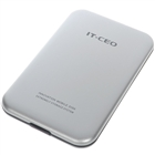 "USB 2.0 2.5"" SATA HDD Enclosure with Carrying Pouch - Silver"