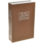 Disguised Dictionary Book Safe Home Security Cash Box Lock - Medium Size (Brown)