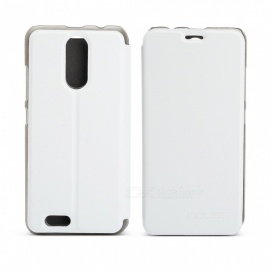 OCUBE Protective Flip-open PU Leather Case for Oukitel C8 5.5 Inches - White