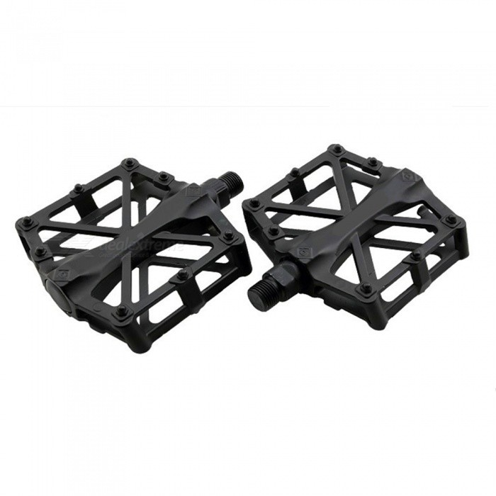 Super Light Anti-skid Aluminium Alloy Mountain Bike Pedals - Black (1 Pair)