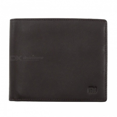 Original Xiaomi Genuine Leather Clutch Purse, Stylish Business Wallet for Credit Card, ID License, Pocket Money - Brown