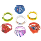 Charming ABS Rings - 1.6cm (7-Pieces Set/Assorted)