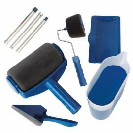 Multi-function Office Room Home Garden Wall Painting Tool Roller Paint Brush Set - Blue
