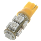 T10 2W 9-SMD LED 126-Lumen Yellow Light Bulbs for Car (Pair/DC 12V)