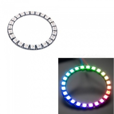 Produino 24-Bit WS2812 5050 RGB LED Ring Round Integrated Driver Module For Arduino