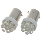 BA9S 0.25W 7-LED 6500K 30-Lumen White Light Bulbs for Car (DC 12V/Pair)