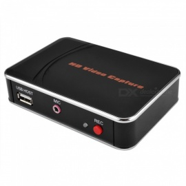 HD video capture box, hra EZCAP 1080P HDMI rekordér ypbpr s 4GB RAM - černý