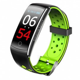 Q8S Color Screen IP68 Waterproof Bluetooth Smart Bracelet with Blood Pressure / Oxygen / Dynamic Heart Rate Monitoring - Green