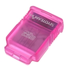 USB Mini SDHC Micro SD / TF Card Reader - Pink (480Mbps/8GB)