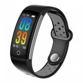 Q6 Color Screen Sports Bluetooth Waterproof Smart Bracelet with Heart Rate, Blood Pressure, Blood Oxygen Monitoring - Grey