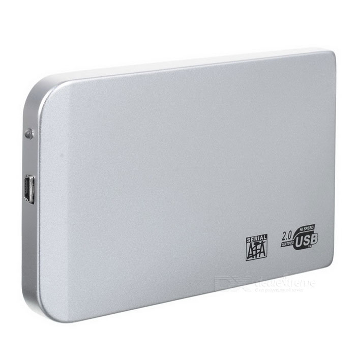 "2.5"" SATA USB 2.0 HDD Enclosure with Leather Pouch - Silver"