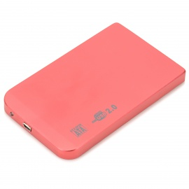"""2.5"""" SATA USB 2.0 HDD Enclosure with Leather Pouch - Red"""