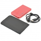 "2.5"" SATA USB 2.0 HDD Enclosure with Leather Pouch - Red"
